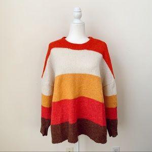 Primark Oversized Striped Sweater Size XL